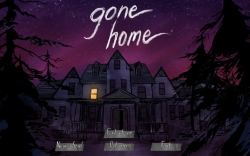 """Gone Home""-Titelbildschirm."