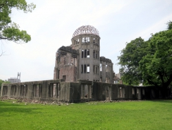 Der Atomic Bombe Dome in Hiroshima.