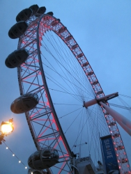 Das London Eye.